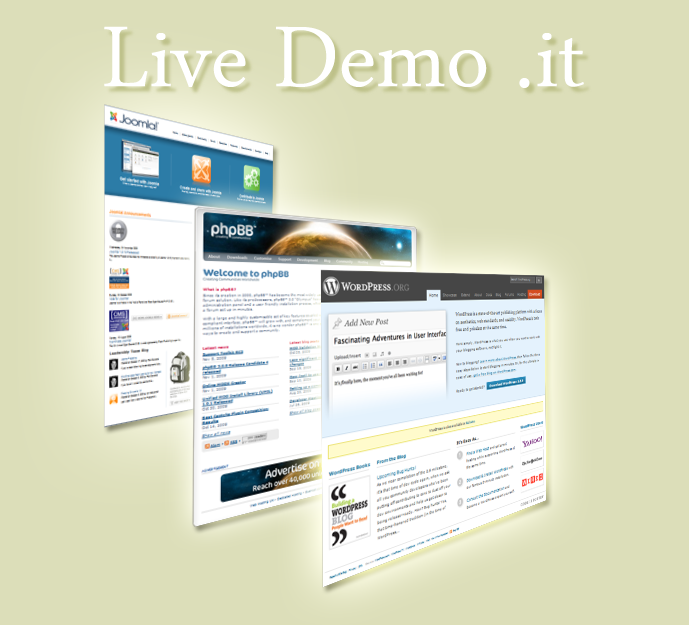 Live demo .it opens on september 2009